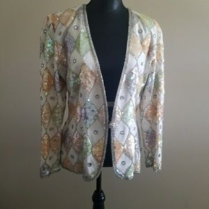 Gorgeous Vintage Sequined Beaded Jacket
